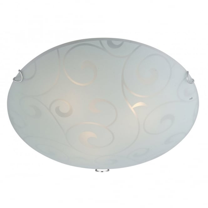 Glo Lighting BIKE round glass flush ceiling light (large)