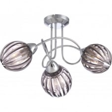 CAJETAN chrome spiral light with faded lavender acrylic shade, 3lt