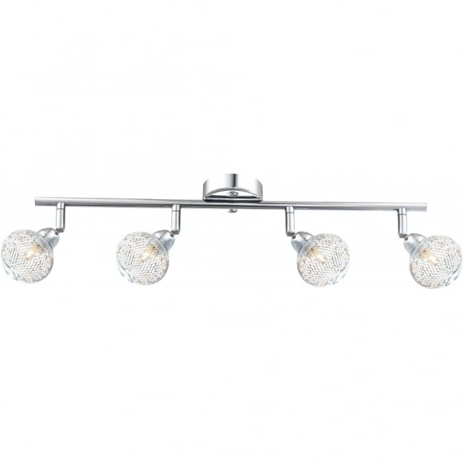 Glo Lighting SAINT MARY chrome ceiling bar light, 4 light