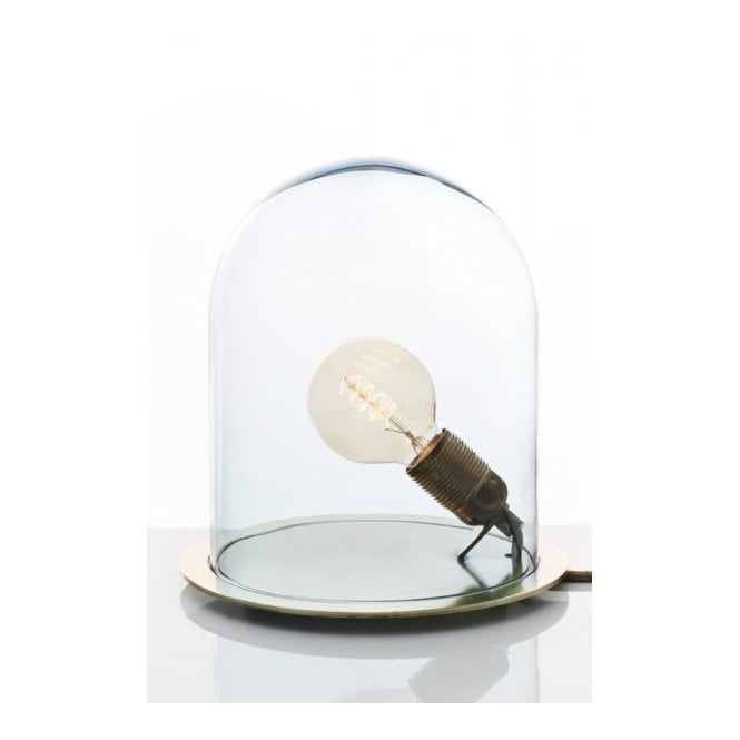 Mouth blown glass dome table lamp with bulb in a clear jar glow in a dome clear glass table lamp large mozeypictures Gallery