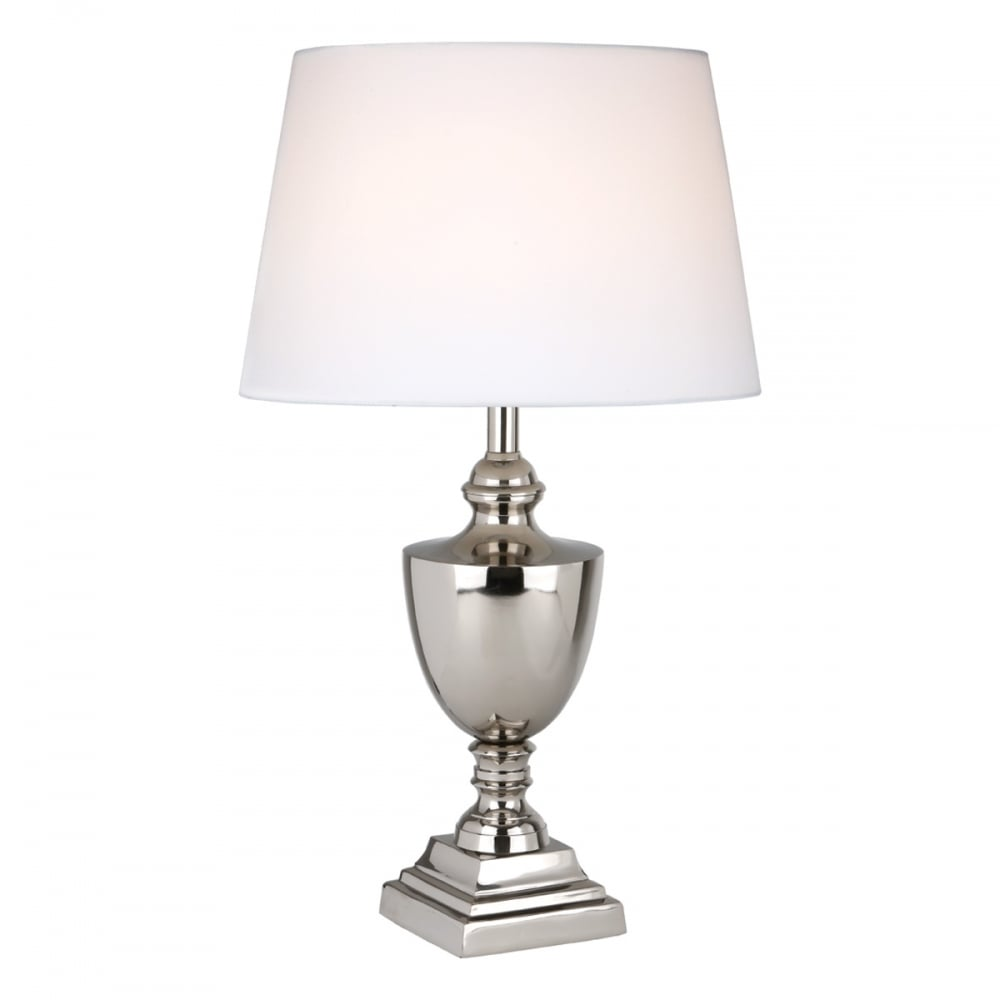 Gottlieb modern classic table lamp polished nickel base only modern classic polished nickel table lamp base aloadofball
