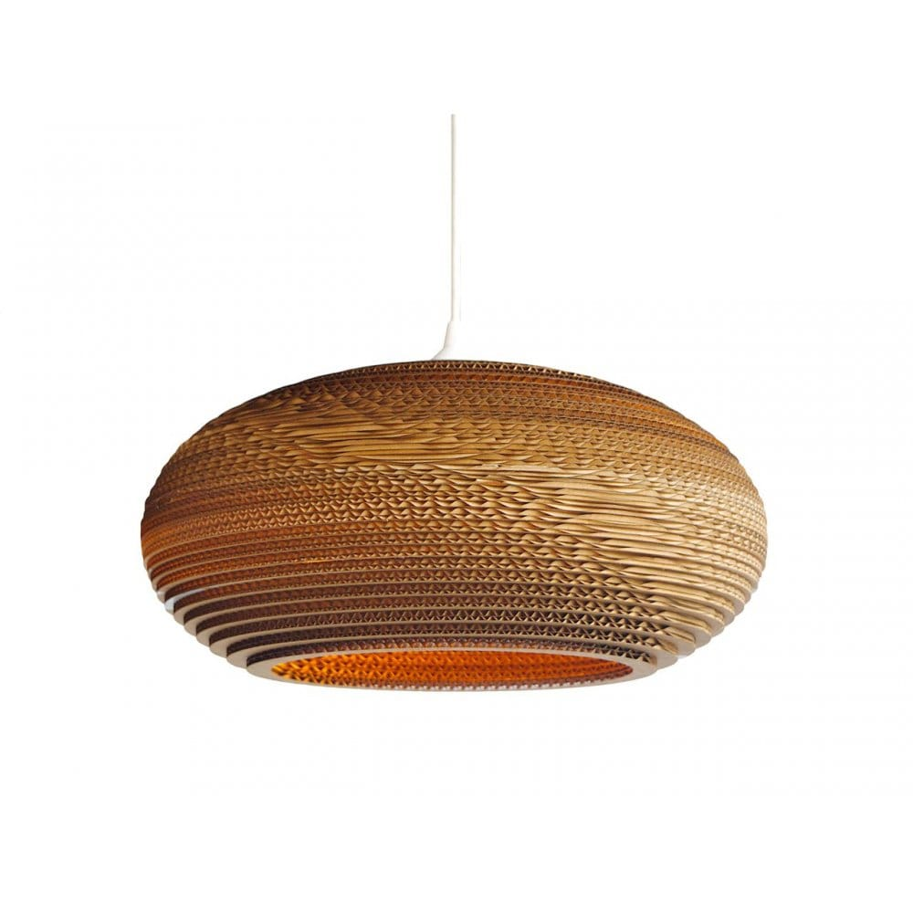 Disc Shaped Ceiling Pendant Unusual Light Made From