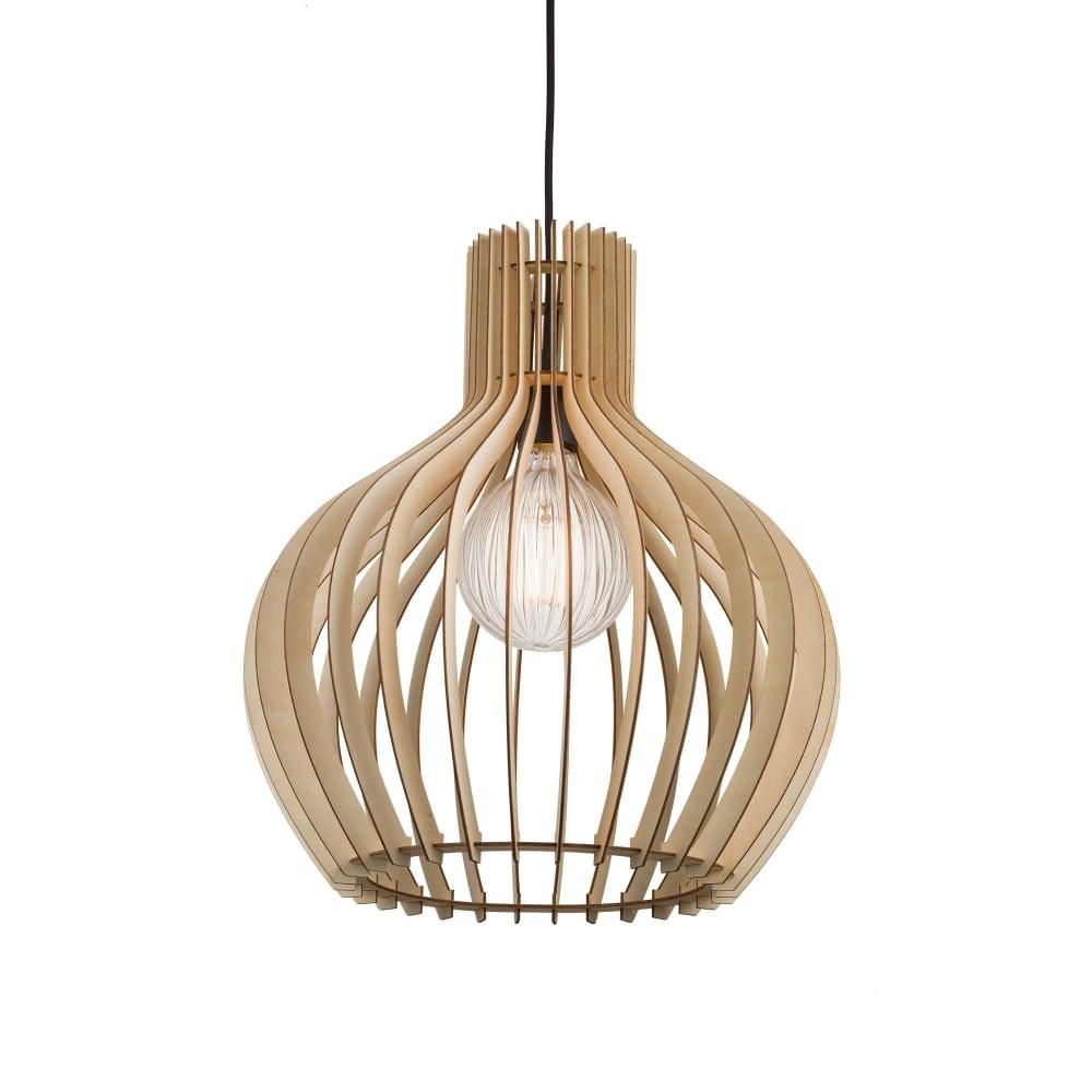 Wooden Slat Ceiling Pendant Light (large