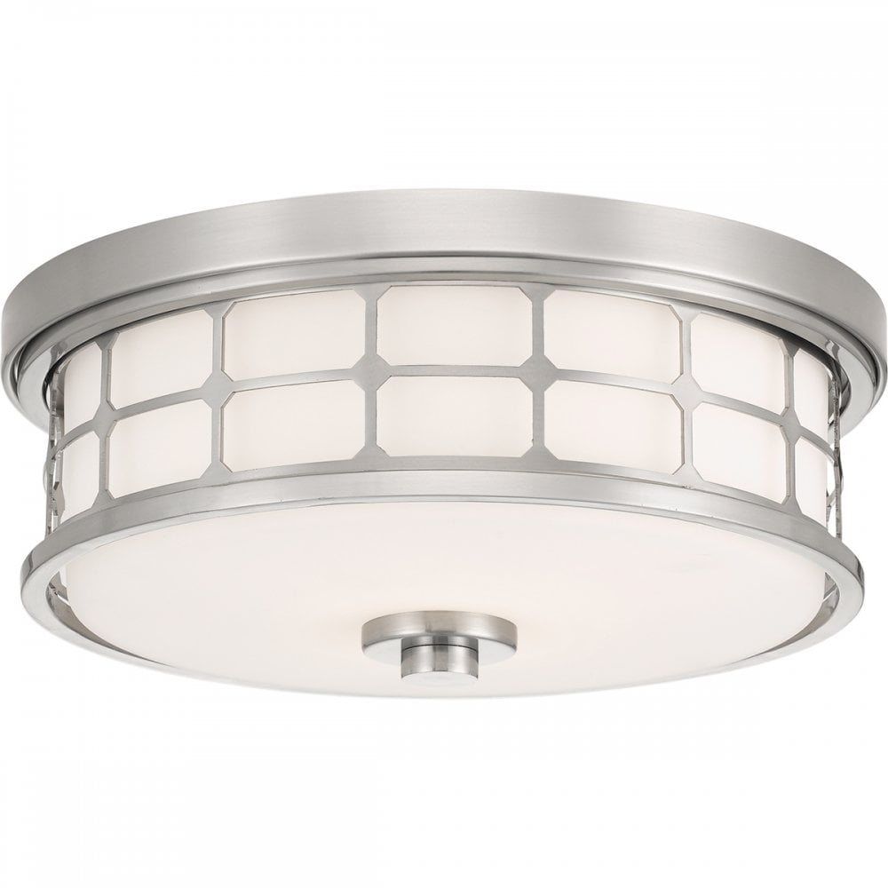 Magnificent Guardian Flush Brushed Nickel Bathroom Ceiling Light Download Free Architecture Designs Viewormadebymaigaardcom