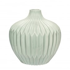 GREEN large ceramic vase