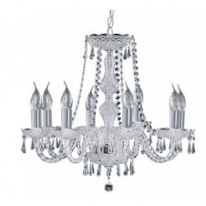 HALE traditional 8 light chrome and crystal chandelier