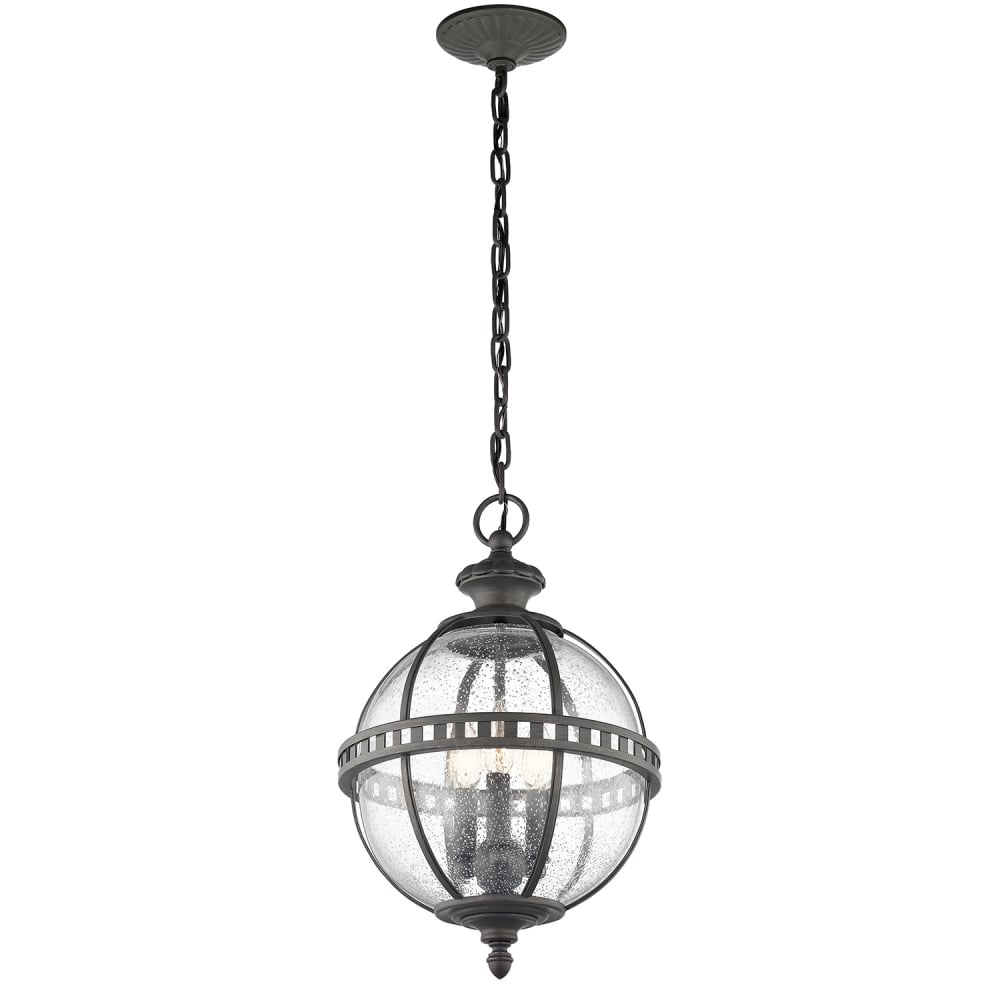 Victorian Style Outdoor Globe Hanging Lantern In Londonderry Finish