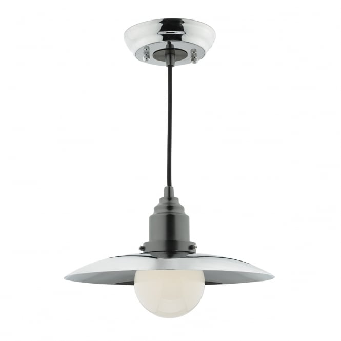 HANNOVER single ceiling pendant in polished and antique chrome finish