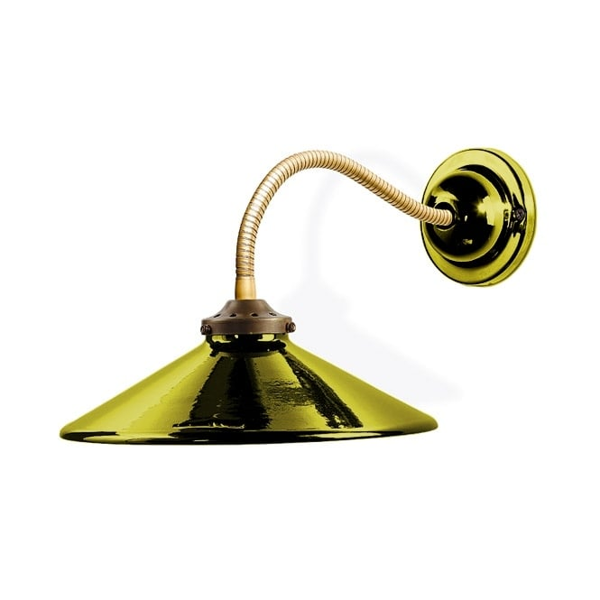 Period Ceramic Flexible Wall Light, Green Finish. Great for Old homes.