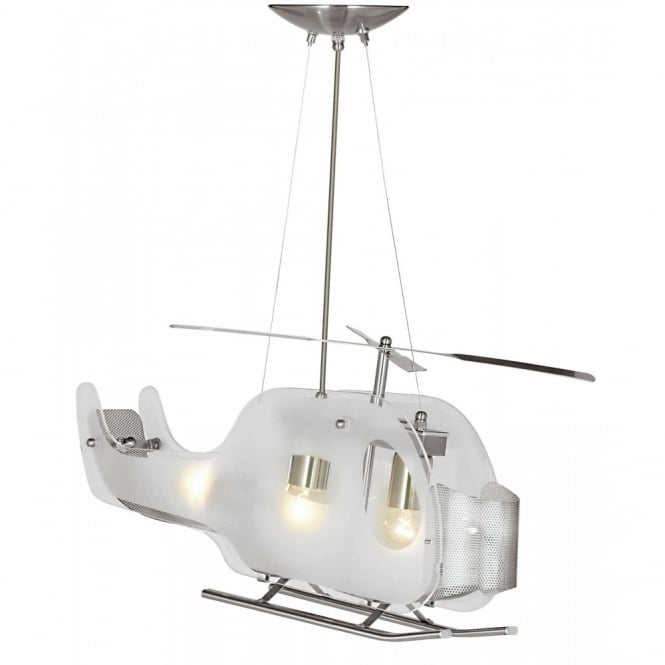 Helicopter novelty glass pendant on wires helicopter novelty childs glass light on wires aloadofball Image collections
