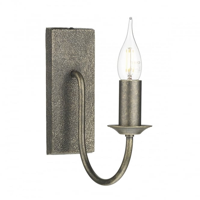 Period style candle wall light in a bronze finish british made period style bronze candle wall light aloadofball Images