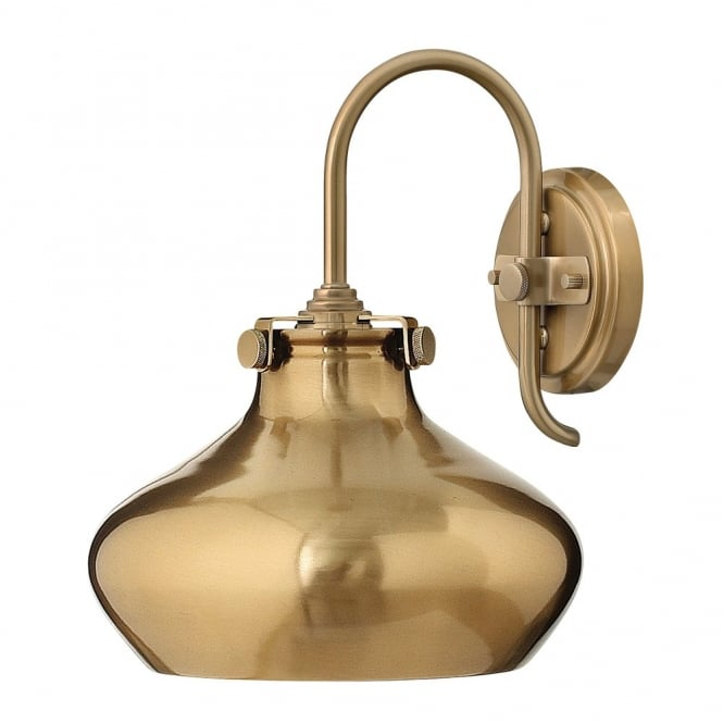 Hinkley Lighting CONGRESS vintage brass wall light with brass metallic shade