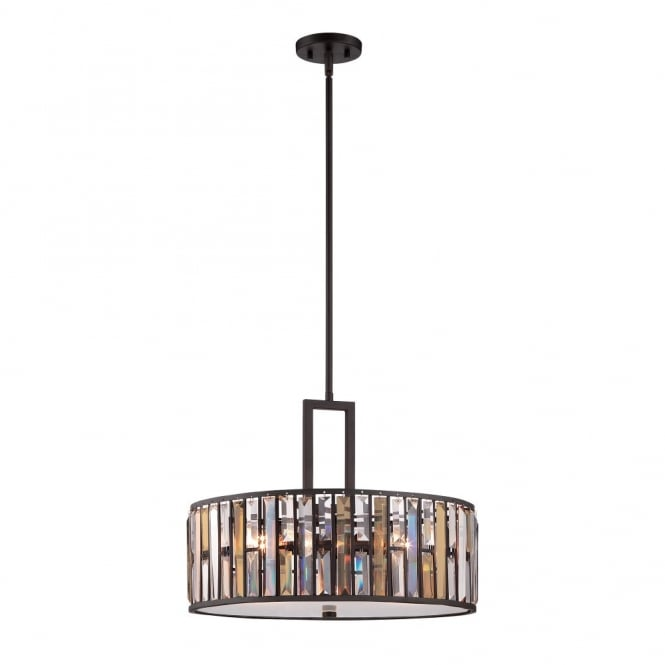 Hinkley Lighting GEMMA contemporary decorative bronze & crystal large ceiling pendant