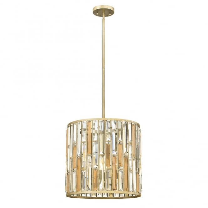 Hinkley Lighting GEMMA contemporary decorative silver leaf & crystal ceiling pendant