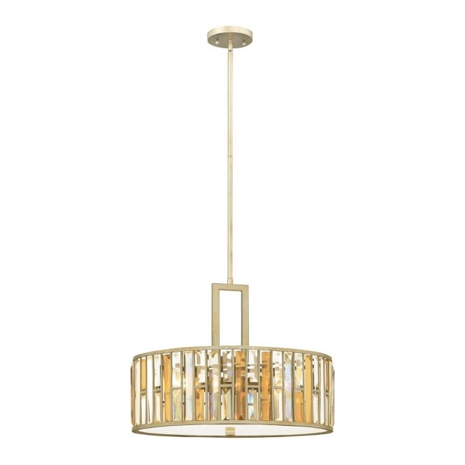 Hinkley Lighting GEMMA contemporary decorative silver leaf & crystal large ceiling pendant
