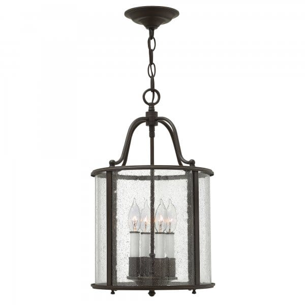 Traditional Lantern Ceiling Pendant In An Old Bronze Finish