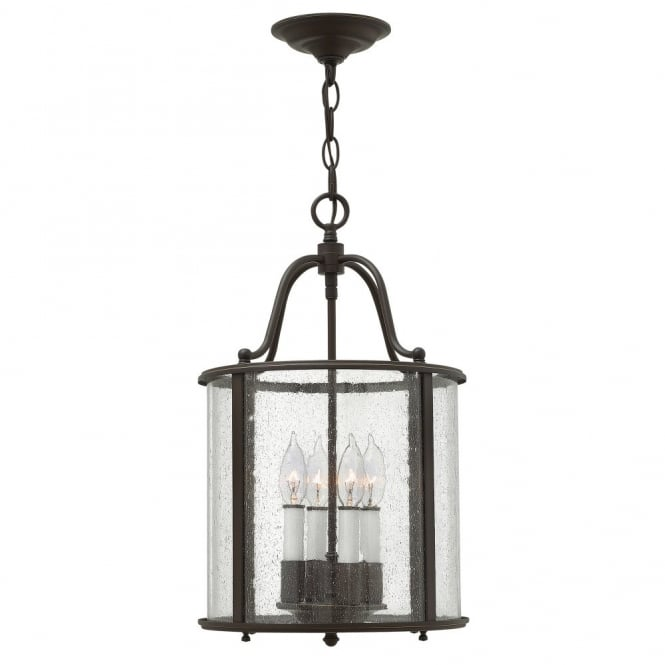 Hinkley Lighting GENTRY traditional lantern design ceiling pendant in old bronze (medium)