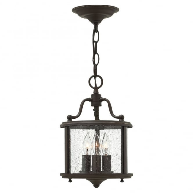 GENTRY traditional lantern design ceiling pendant in old bronze (small)