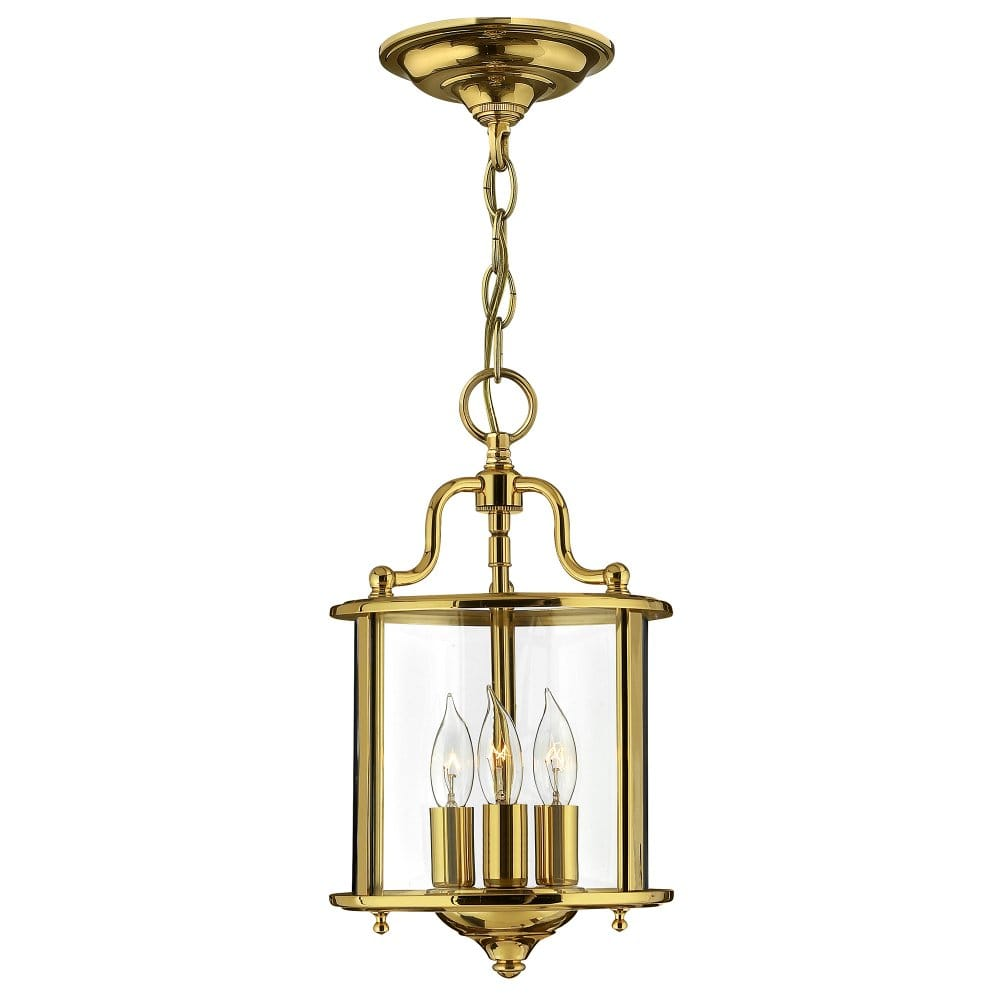 Traditional Lantern Ceiling Pendant In A Polished Brass Finish