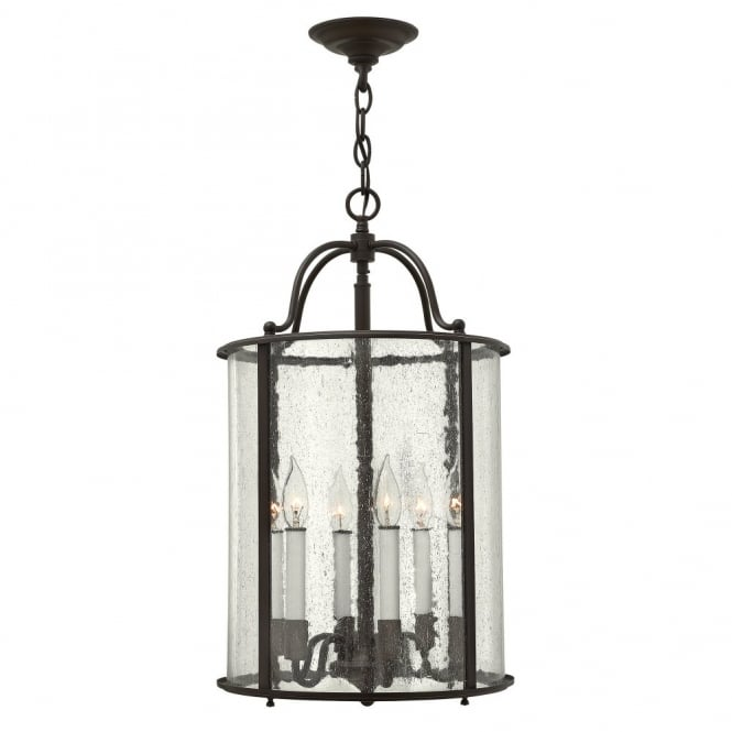 Hinkley Lighting GENTRY traditional large lantern design ceiling pendant in old bronze