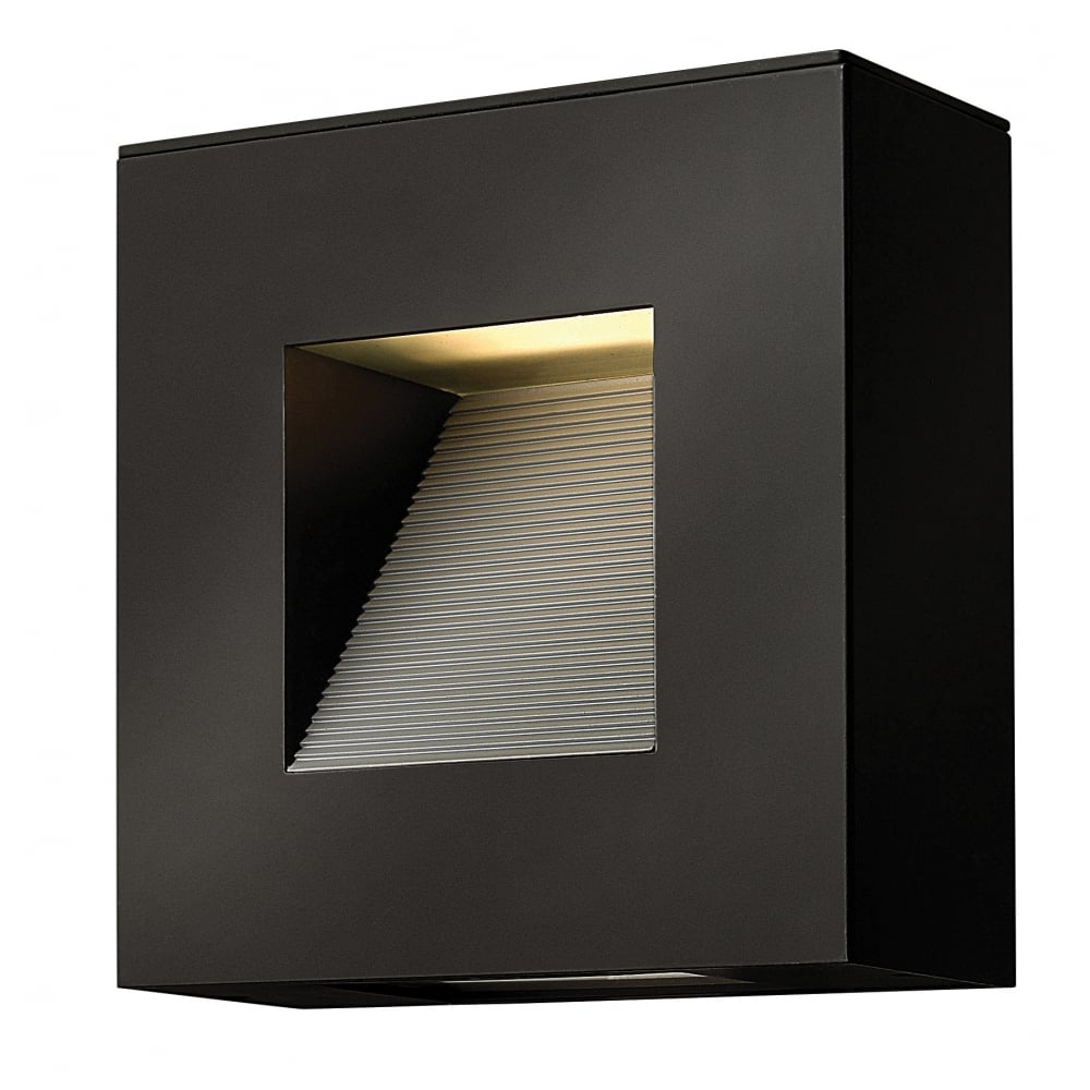 Contemporary satin black led square exterior wall light for Contemporary exterior wall lights