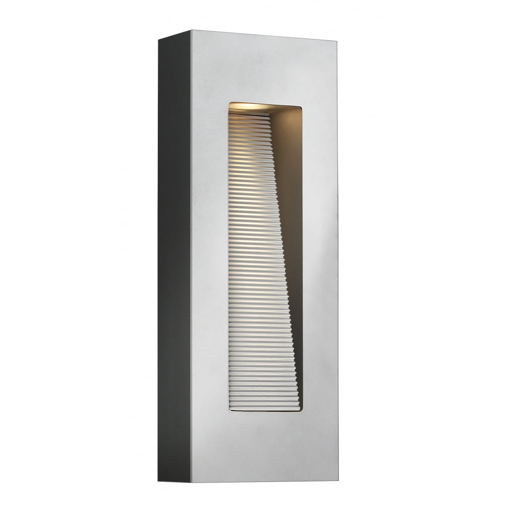 Contemporary titanium finished led exterior wall light for Contemporary exterior wall lights