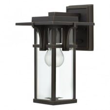 MANHATTAN modern classic train station outdoor wall lantern (small)