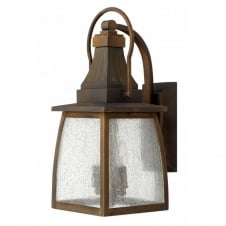 MONTAUK small brass outdoor garden wall lantern