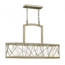 contemporary kitchen island ceiling pendant in silver leaf finish with etched glass inner shade