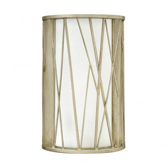 Hinkley Lighting NEST contemporary wall light in silver leaf finish with etched glass inner shade