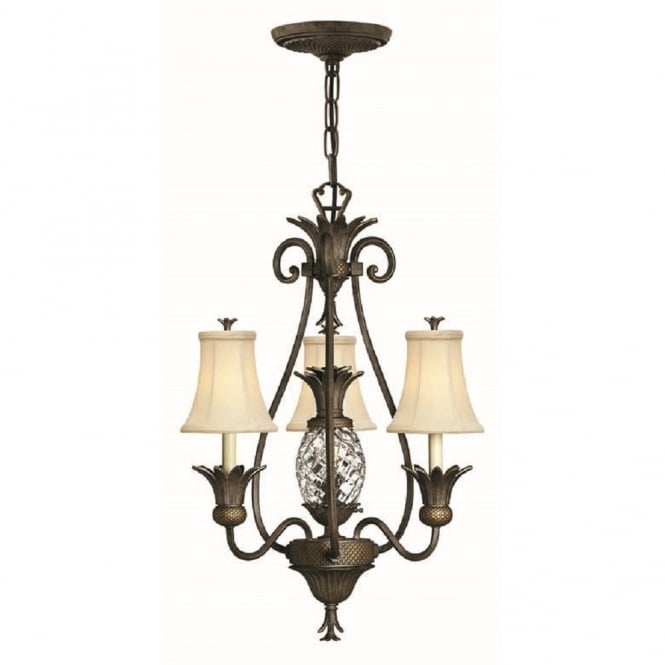 Hinkley Lighting PLANTATION 4 light bronze pineapple chandelier