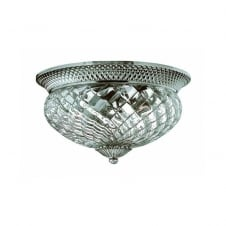 PLANTATION large antique nickel traditional flush ceiling light