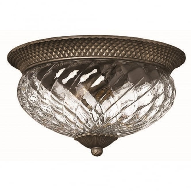 PLANTATION large traditional flush low ceiling light