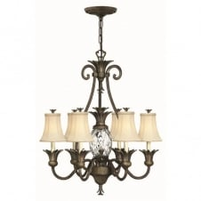 PLANTATION pineapple bronze 7 light chandelier