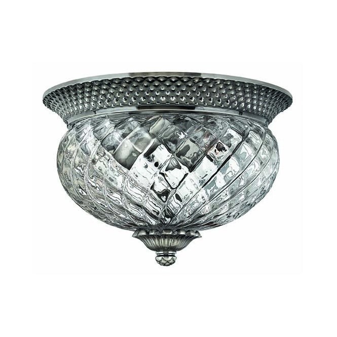 Hinkley Lighting PLANTATION small antique nickel traditional low ceiling light