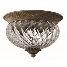 PLANTATION traditional small bronze flush low ceiling light