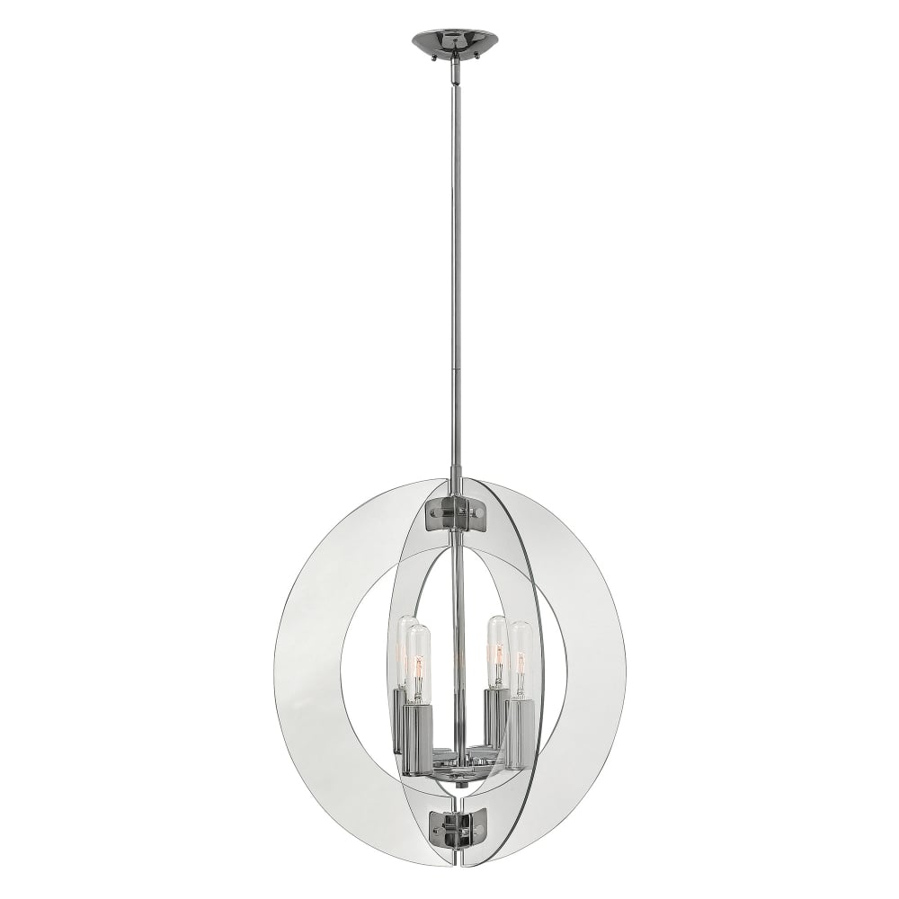 Contemporary Glass Ceiling Pendant Chandelier With Rod