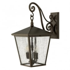 TRELLIS large exterior traditional regency wall lantern in bronze