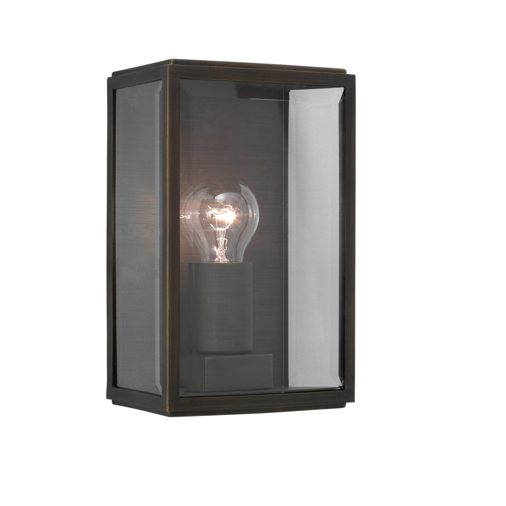 Contemporary bronze plated outdoor box wall lantern modern outdoor box wall lantern in bronze plated aloadofball Image collections