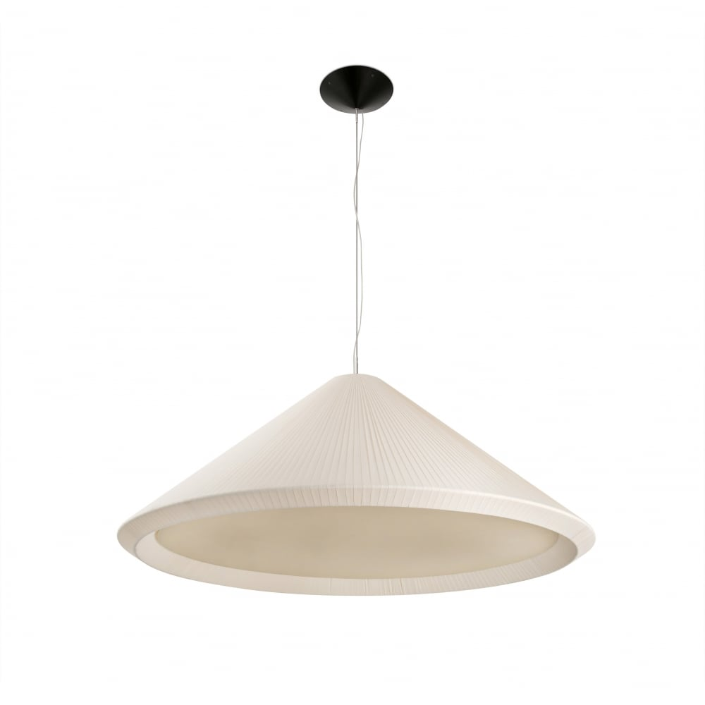 new styles 39ad9 8429f HUE-IN extra large tapered ivory ceiling pendant