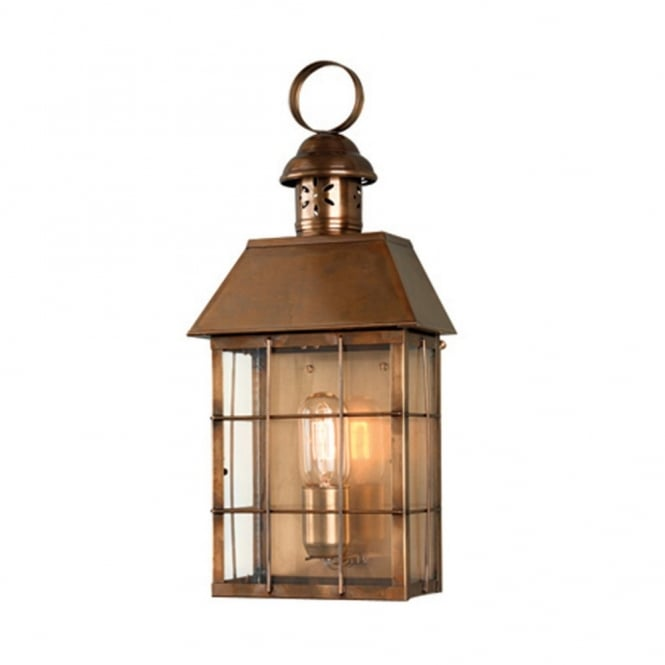 Hyde park traditional antique brass garden wall lantern