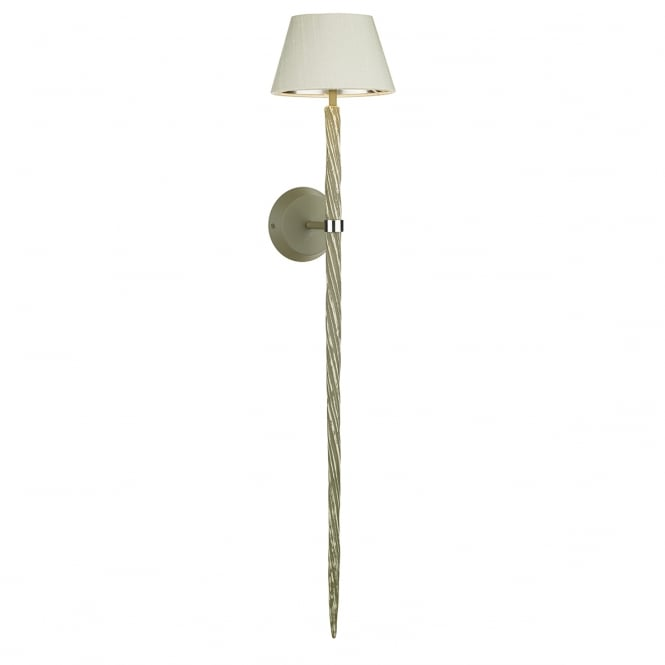 ICE twist textured wall light in aged grey (excludes shade)