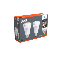 2 Pack of iDual colour changeable LED bulb (ES/E27) with Remote