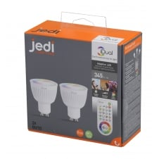 2 Pack of iDual colour changeable LED bulb (GU10) with Remote