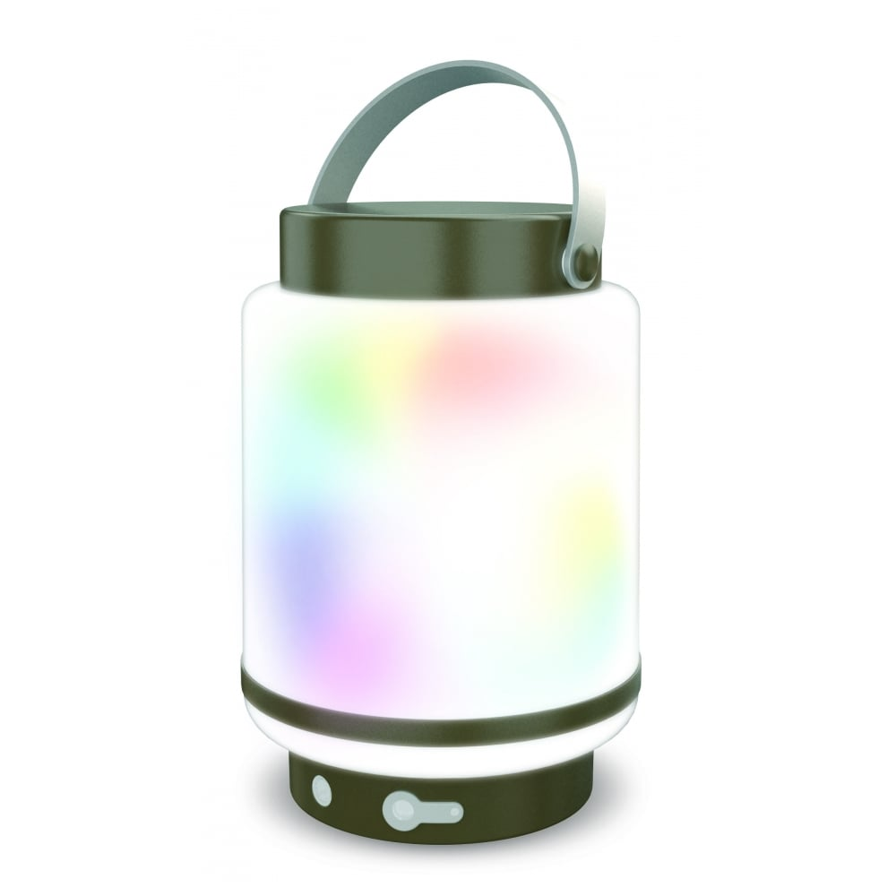 Outdoor Lighting Companies: Smart LED Exterior Lantern In Grey With Remote Control