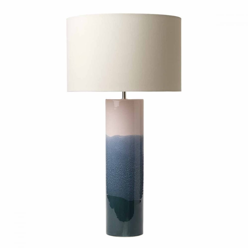 Ignatio decorative ceramic table lamp base in pink and blue finish decorative ceramic table lamp base in blue and pink mozeypictures Image collections