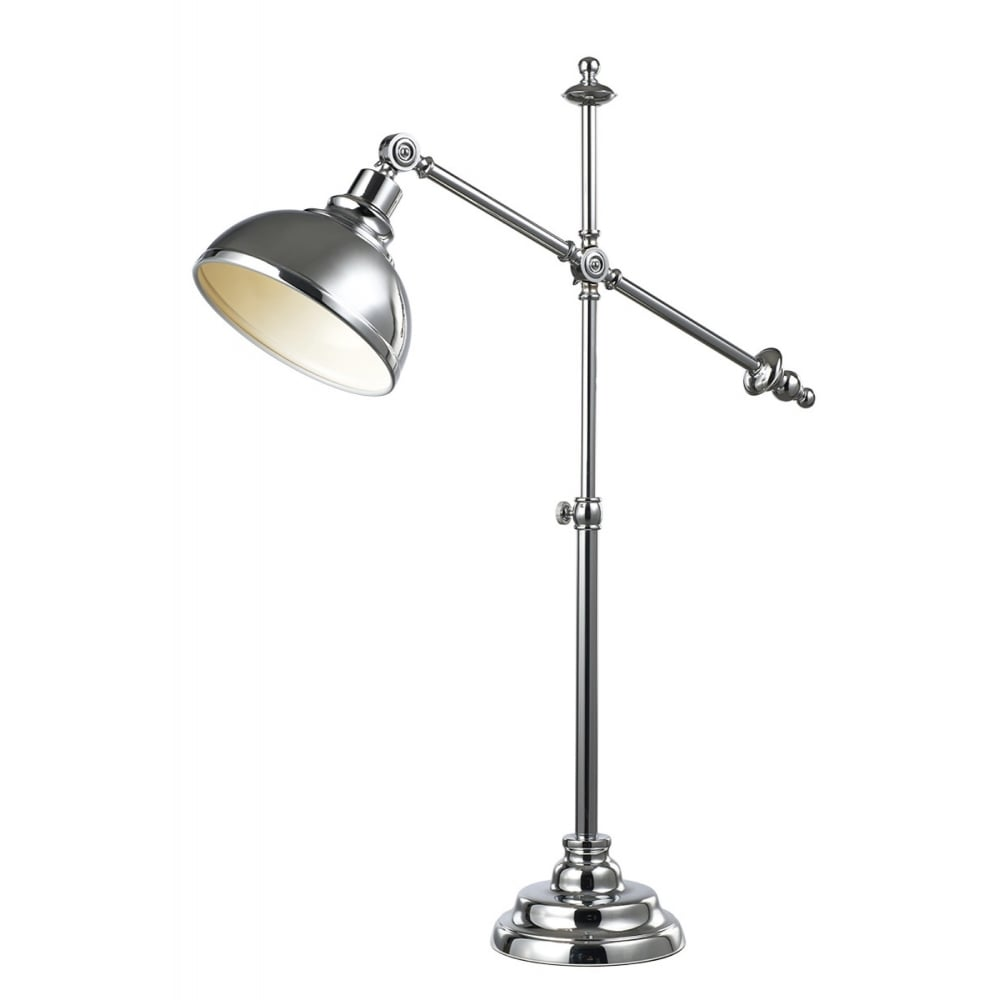 industrial desk lamp. Industrial Desk Lamp In Polished Chrome Finish