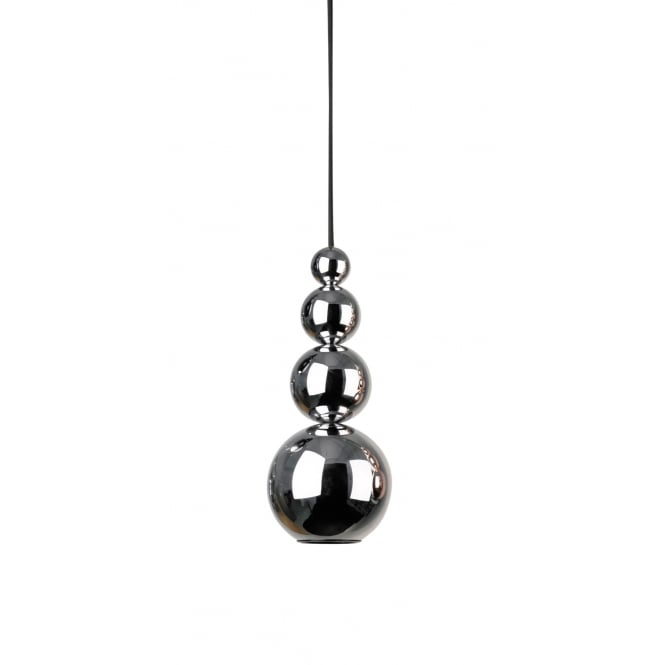 BUBBLE modern stacked sphere ceiling pendant in polished chrome