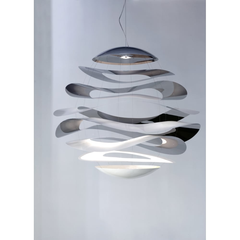 Buckle Modern Mirror Chrome Led Ceiling Pendant