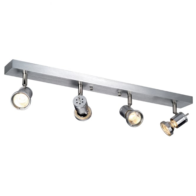 Intalite Big White ASTO IV four light ceiling spot light (brushed aluminium)